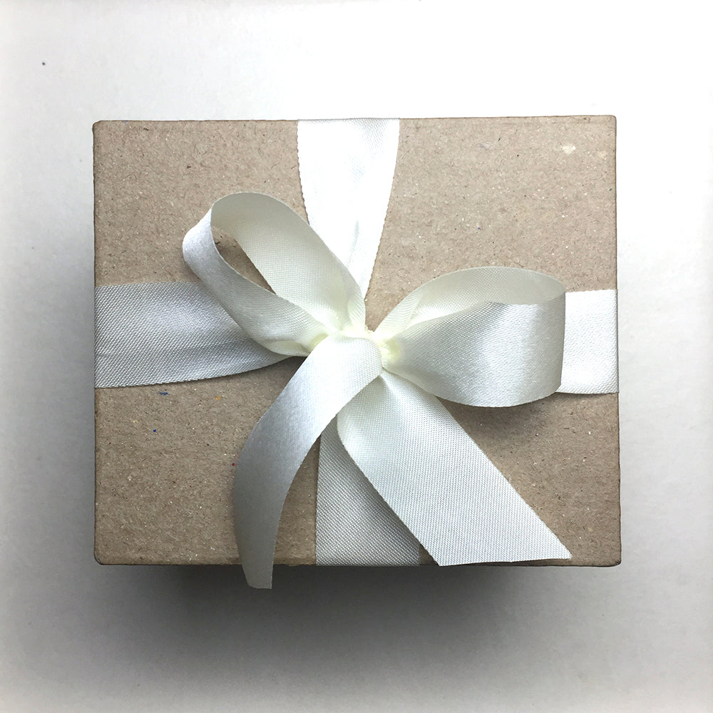 Special Gift Box with Creme Ribbon