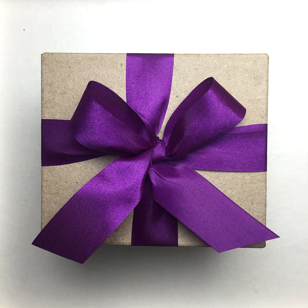 Special Gift Box with Purple Ribbon