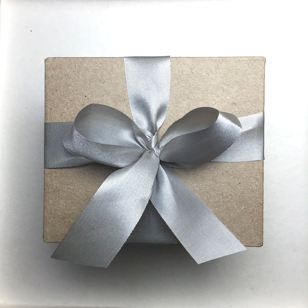 Special Gift Box with Silver Ribbon