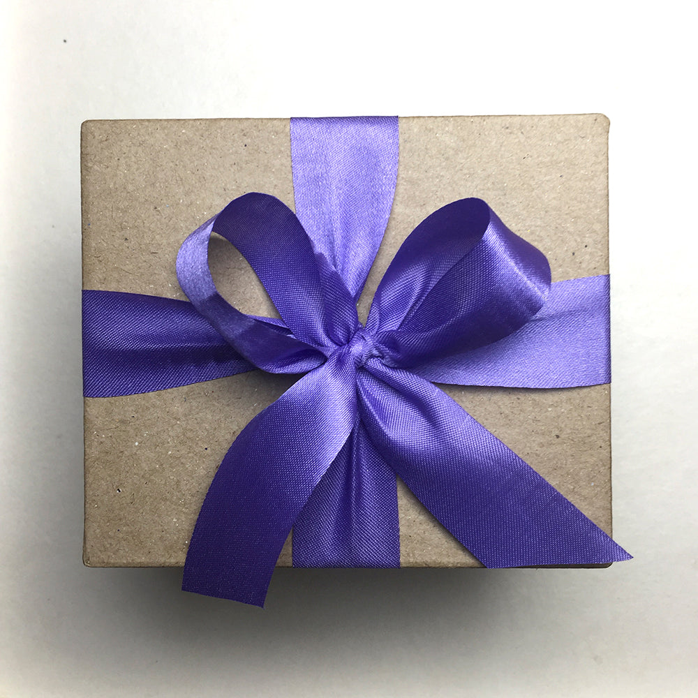 Special Gift Box with Violet Ribbon