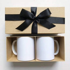 Special Gift Box with Ribbon for Couple Mugs