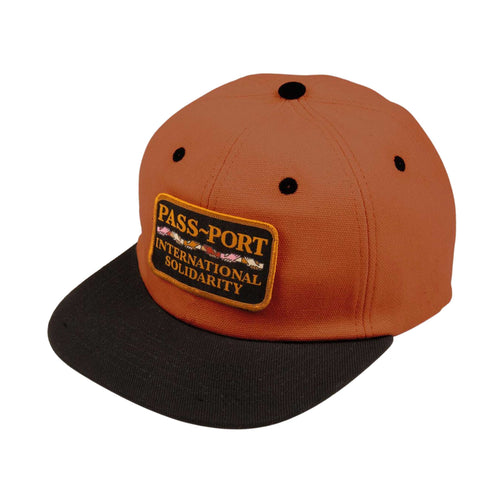 Inter Solid Patch 5 Panel Cap - Brown/Black