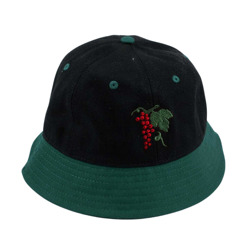 Life Of Leisure 6 Bucket Hat - Forest Green/Black