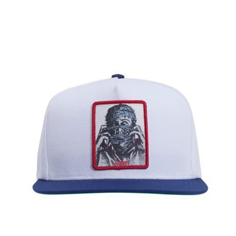 Barbwire 5-Panel Snapback - White