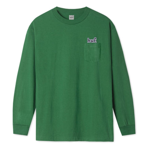 1993 Longsleeve Pocket Tee - Green - Hemley Skateboarding