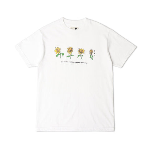 Too Sunny For Sunflowers Tee - White
