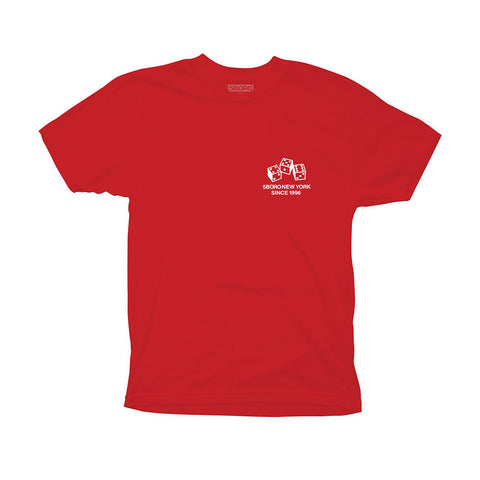 4-5-6 Dice Tee - Red - Hemley Skateboarding