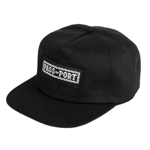 Barbs 5 Panel Cap - Black
