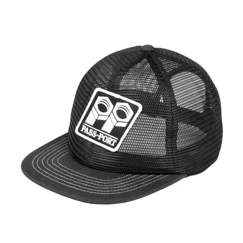Bolt Trucker Cap - Black/White