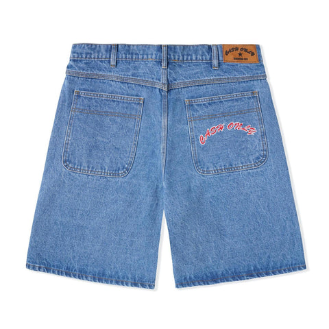 Baggy Jean Shorts - Washed Indigo