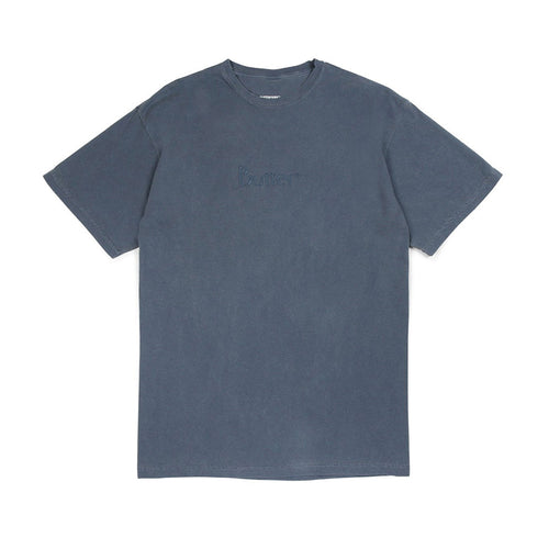 Tonal Embroidered Classic Logo Tee - Denim