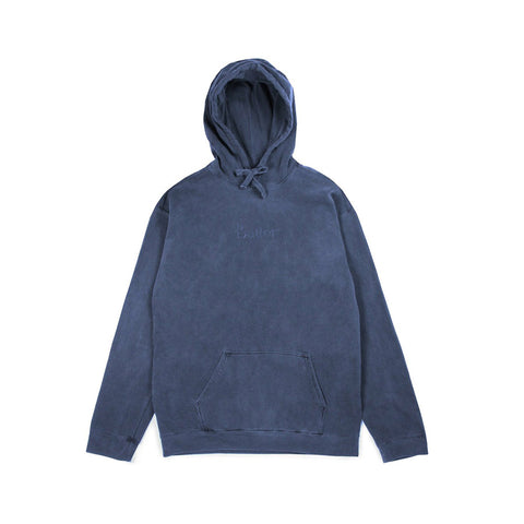 Tonal Embroidered Classic Logo Pullover - Denim