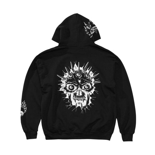 Spider Sinclair Collab Skull Hood - Black