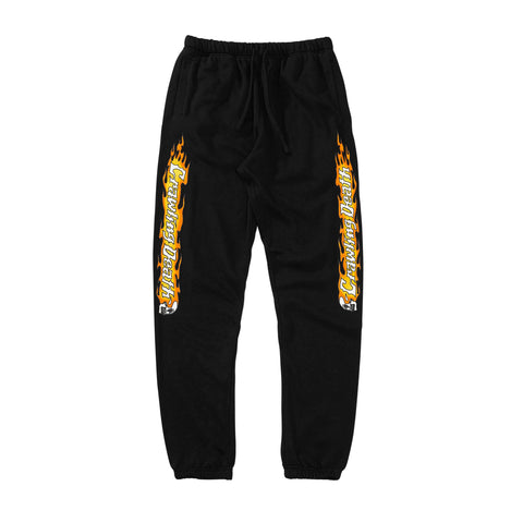 Flame Sleeves Sweatpants - Black