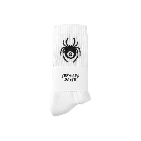 Spider Socks - White