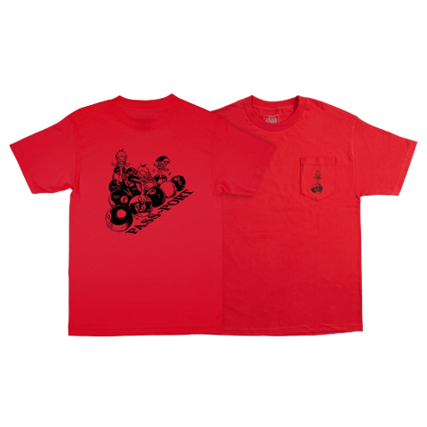 Ducks In A Row Tee - Red