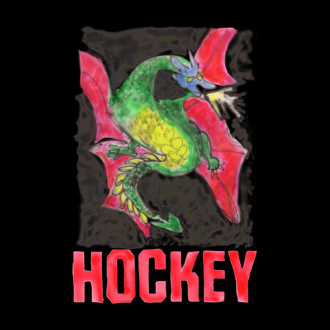 Hockey Dragon Tee - Black