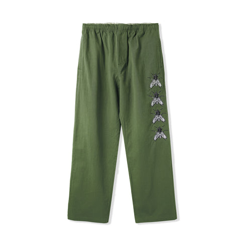 Swarm Embroidered Pants - Army Green