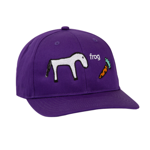 Horse 5 Panel Hat - Purple