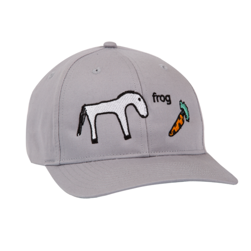Horse 5 Panel Hat - Silver