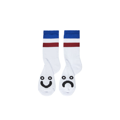 Happy Sad Socks - Stripes - Blue