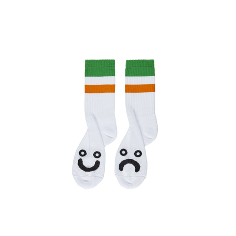 Happy Sad Socks - Stripes - Green
