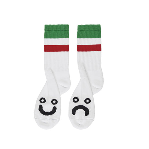 Happy Sad Socks - Stripes - Green/Red
