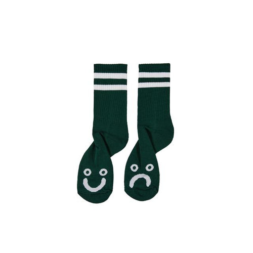 Happy Sad Socks - Dark Green