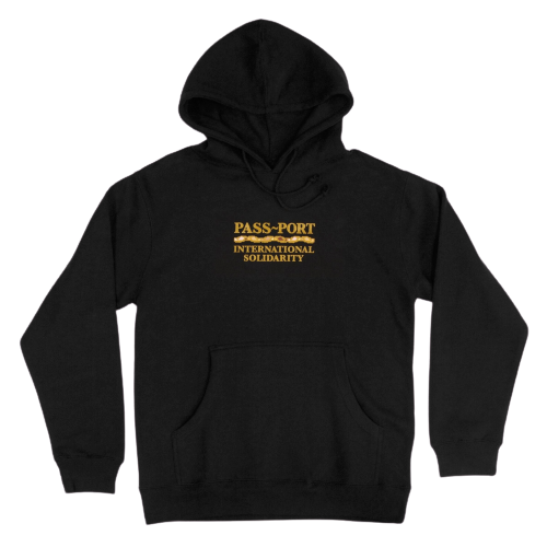 Passport Inter Solid Hoodie - Black