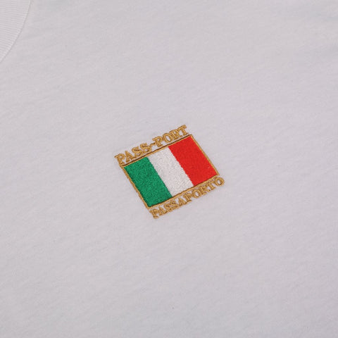 International Tea Towels ~ Italy Tee - White