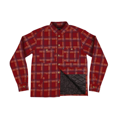 Late Quilted Flannel Jacket - Red