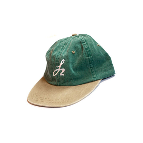 Monogram Logo Cap - Washed Green/Khaki - Hemley Skateboarding