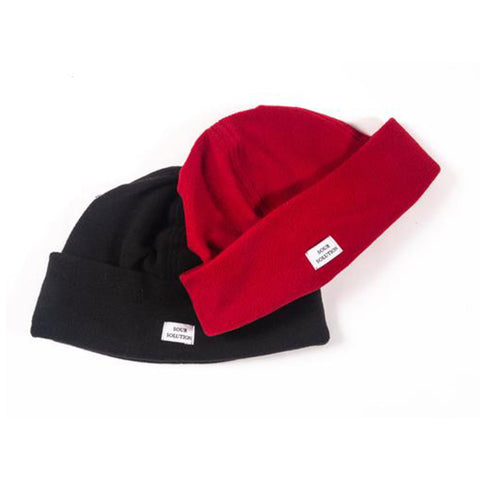 Fleece Beanie - Red