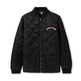 Quilted Nylon Bomber Jacket - Black