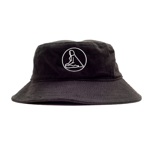Circle Logo Bucket Hat - Black