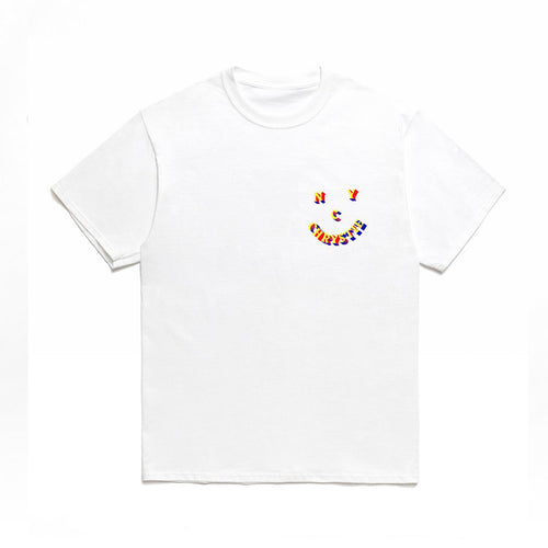 3D Smile Logo T-shirt - White - Hemley Skateboarding