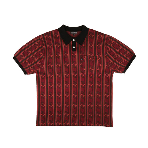 Tilde Knitted S/S Polo - Red