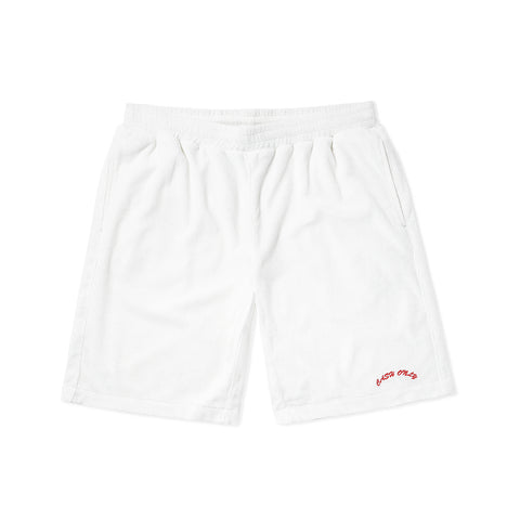 Terry Toweling Shorts - White