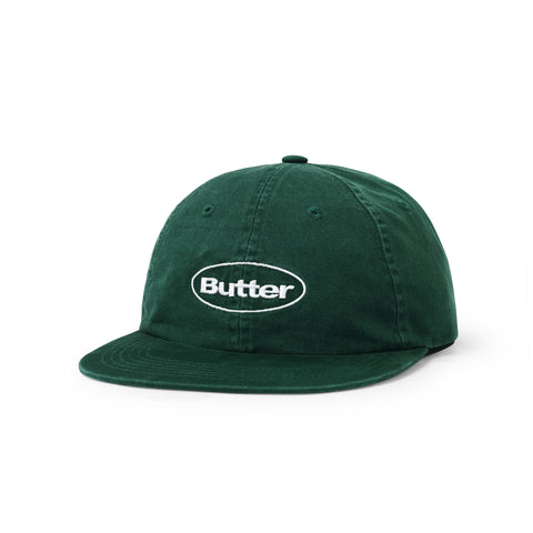 Washed Badge 6 Panel - Forest