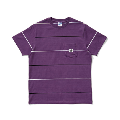 Stripe Pocket Tee - Purple