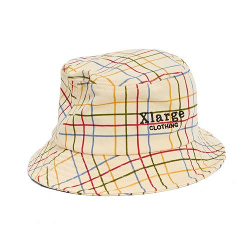 Check Bucket Hat - Cream