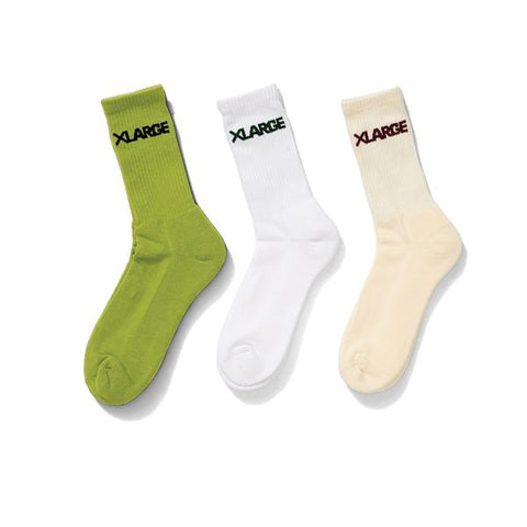 Standard Sock 3 Pack - White / Multi