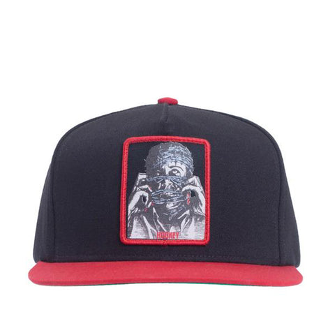 Barbwire 5-Panel Snapback - Black