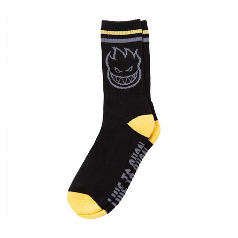Bighead Sock - Black/Yellow/Grey