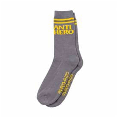 Block Hero Socks - If Found - Grey/Yellow