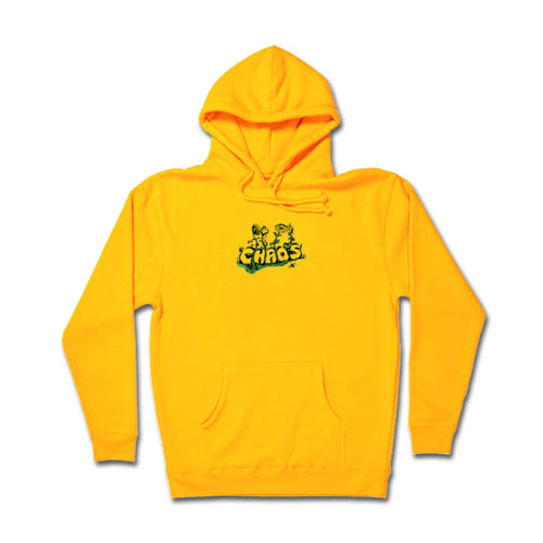 Chaos Embroidery Hoodie - Gold