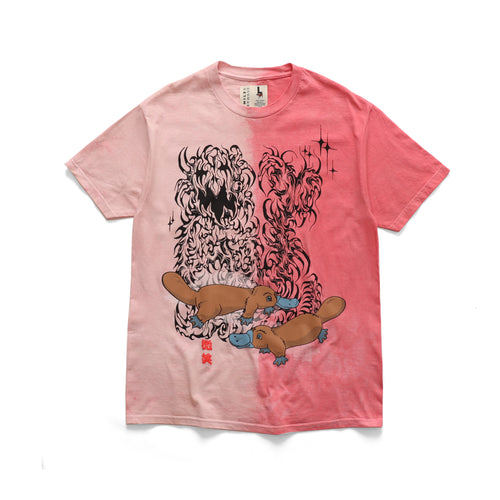 Duck Billed Tee - Strawberry Tie Dye