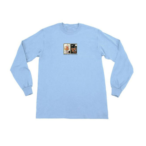 Gaudy Salon Vase Longsleeve Tee - Light Blue
