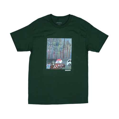 Camping Tee - Forest Green
