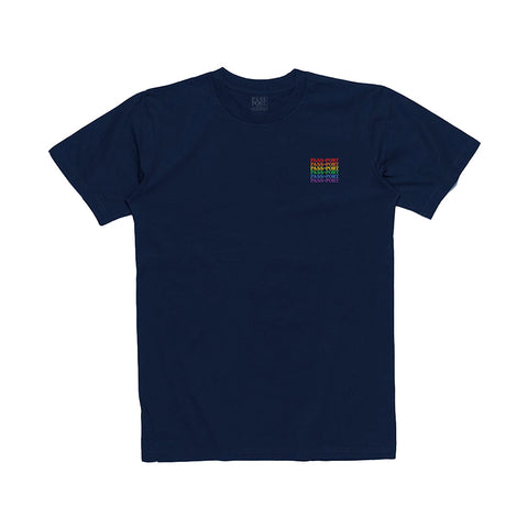 Official Repeat Embroidery Tee - Navy - Hemley Skateboarding